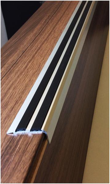 Anodised Aluminium Stair Nosing. Vigil Antislip Antislip Nonslip Nonskid  Safety Flooring Product Description